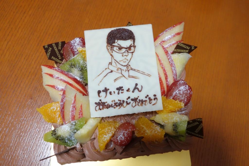金城金吾の誕生日ケーキ
